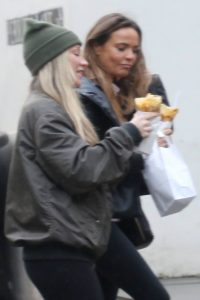 Chloe Madeley Picking up a crepe in Hampstead 07