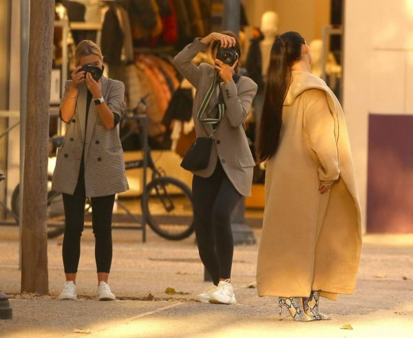 Demi Rose Shooting for PrettyLittleThing in Ibiza Old Town 01