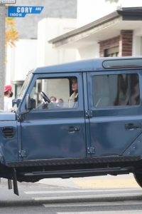 Elisabetta Canalis Spotted in her Land Rover Defender in Los Angeles 06