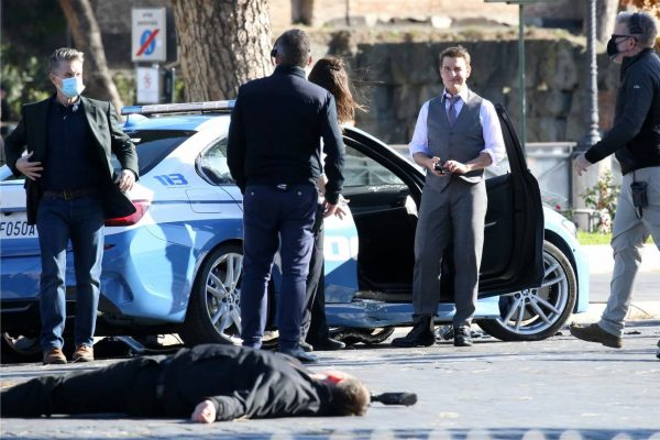 Hayley Atwell On the set of Mission Impossible 7 in Rome 02