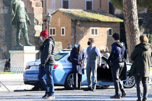 Hayley Atwell On the set of Mission Impossible 7 in Rome 04