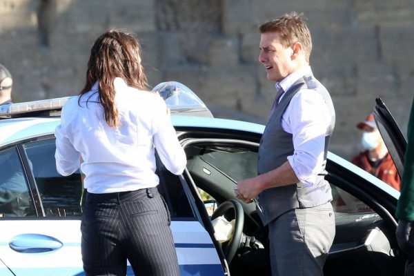 Hayley Atwell On the set of Mission Impossible 7 in Rome 06