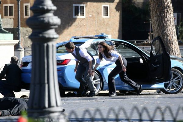 Hayley Atwell On the set of Mission Impossible 7 in Rome 07