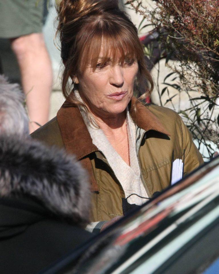 Jane Seymour on set for Harry Wild in Wicklow 04