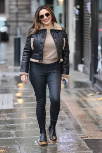 Kelly Brook Seen while arrive at Heart radio in London 10