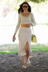 Leni Rico Dons white while leaving Coldwater Park in Beverly Hills 15