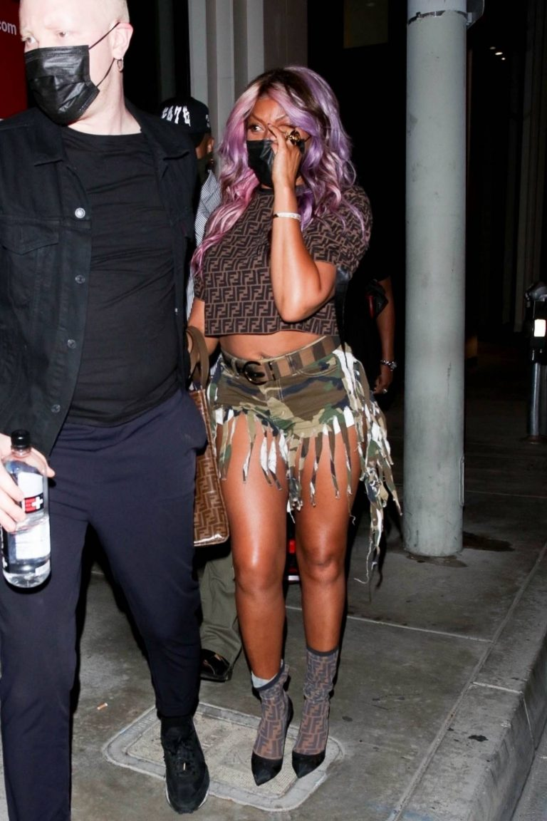 Taraji P Henson Dons Daisy Dukes at Catch LA in West Hollywood 09