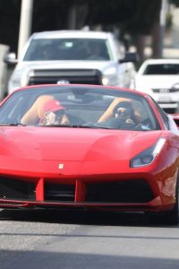 Vanessa Hudgens and GG Magree driving around in West Hollywood 01