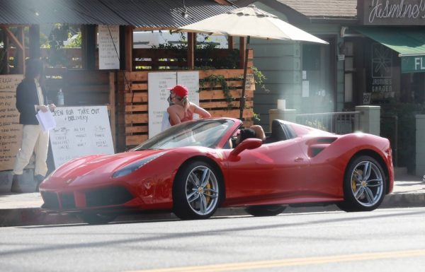 Vanessa Hudgens and GG Magree driving around in West Hollywood 02